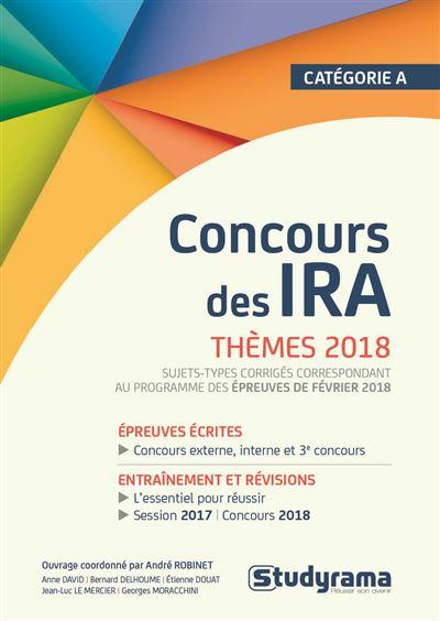 Concours des IRA Thèmes 2018, Catégorie A