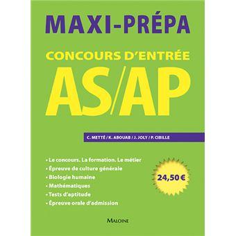 Concours d'entrée AS-AP