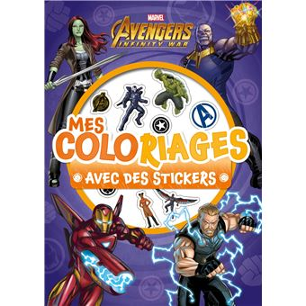 Avengers Mes Coloriages Avec Stickers Marvel Infinity War