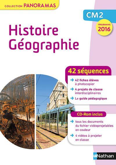 Histoire Géographie CM2 fichier + CD - Collection Panoramas 2017 - Programme 2016