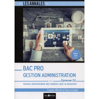 Bac pro gestion-administration epreuve e2