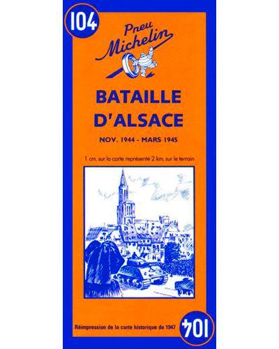 Carte Bataille d'Alsace novembre 1944 - mars 1945 Michelin