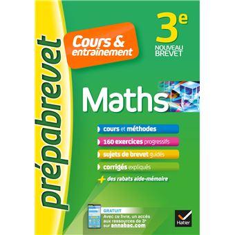 Maths 3e Prepabrevet Cours Entrainement Cours Methodes Et Exercices Progressifs Broche Caroline Bureau Jean Pierre Bureau Achat Livre Ou Ebook Fnac
