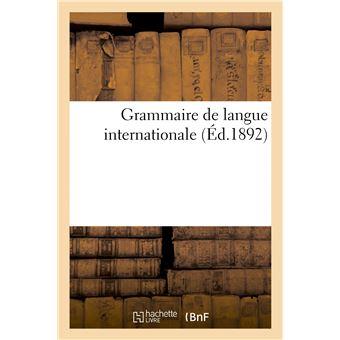 Grammaire de langue internationale