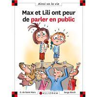Max et Lili ont peur de parler en public