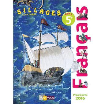 Sillages Francais 5e 2016 Manuel Eleve