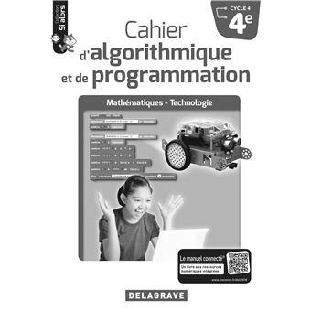 Cahier d'algorithmique et de programmation 4ème Cycle 4