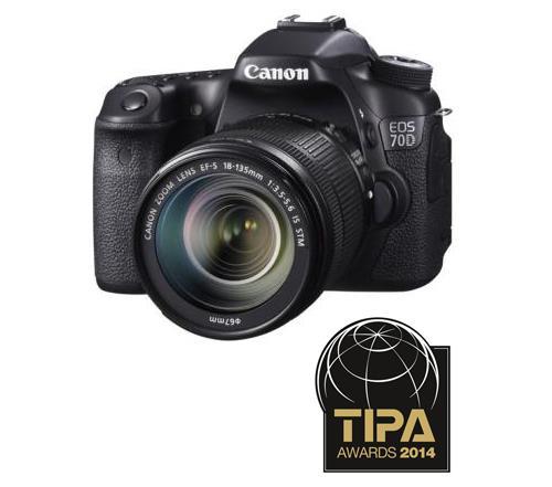 Reflex Canon EOS 70D WiFi intégré + EF-S 18 - 135 mm f/3.5 - 5.6 IS STM