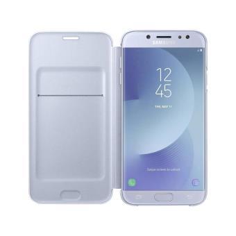 best service 530fe 5b681 Samsung Wallet Cover EF-WJ730 - Protection à rabat pour téléphone portable  - bleu - pour Galaxy J7 (2017)