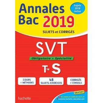 Annales Bac SVT Tle S