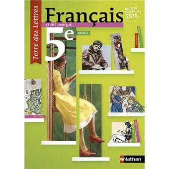 Terre Des Lettres Francais 5eme 2016 Manuel Eleve Format Compact