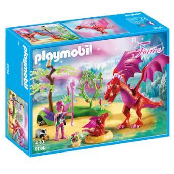 Playmobil Fairies 9134 Gardienne des fées avec dragons