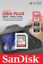 SNDI Carte Mémoire Sandisk ultra PLUS SDXC 128Go 80Mo/seconde...