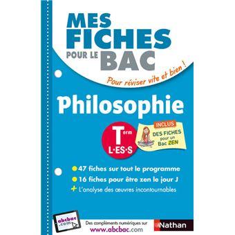 Mes Fiches Pour Le Bac Philosophie Term L Es S Broche Katy Grissault Gilles Diederichs Achat Livre Fnac