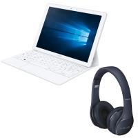 "Tablette PC Samsung Galaxy TabPro S 12"" Blanche + Casque Level On Bluetooth Noir+"