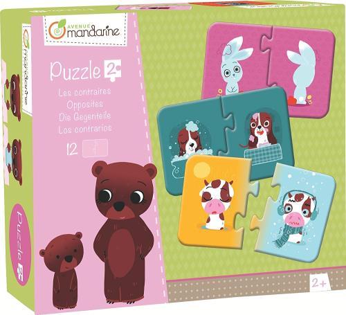 Pratique, ludique et colorée ce puzzle des contraires accompagnera les plus petits dans leur apprentissage des formes et développera leur mémoire, leur vocabulaire et leur sens de l´association.
