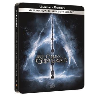 Les Animaux FantastiquesLes Animaux fantastiques 2 : Les Crimes de Grindelwald Steelbook Blu-ray 4K Ultra HD
