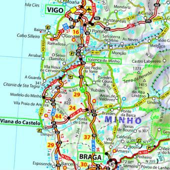 carte espagne portugal routière