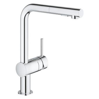 Agreable Mitigeur évier Avec Douchette Extractible Grohe Minta 30274000 Images
