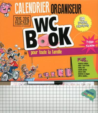 Calendrier organiseur WC BOOK septembre 2015 à septembre 2016