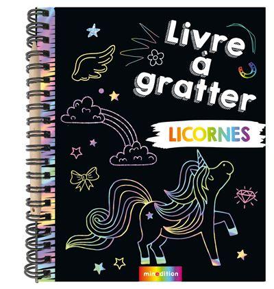 Livre à gratter Licornes (mini-livre)
