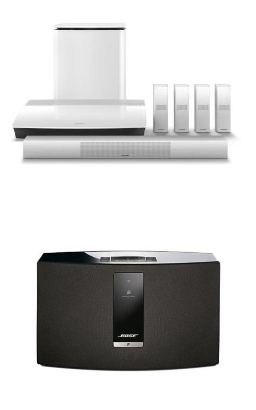 Système Home-Cinema Bose Lifestyle 650 Blanc + Enceinte sans fil SoundTouch 20 III WiFi et Bluetooth