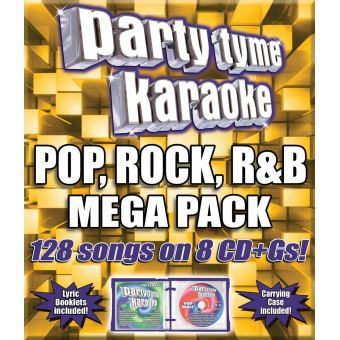 Party tyme karaoke pop rock rand blues mega pack