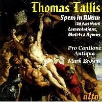 Spem in alium - Lamentations motets hymns