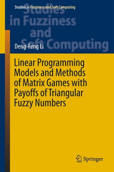 Linear programming models and methods of matrix games with payoffs of triangular fuzzy numbers