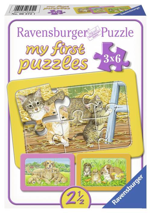 Mes premiers puzzles cadres Des informations complémentaires concernant nos produits: Chaque coffret contient 3 puzzles-cadres, autour des thèmes préférés des jeunes enfants : les animaux de la ferme, les animaux familiers, les animaux sauvages et les véh