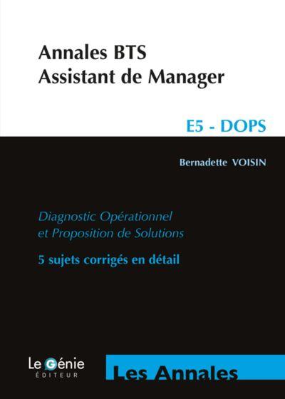 Annales bts assistant de manager