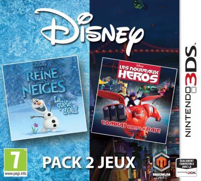 Disney Pack 2 Jeux : La Reine des Neiges : La Quête d'Olaf et Les Nouveaux Héros : Combat dans la Baie 3DS