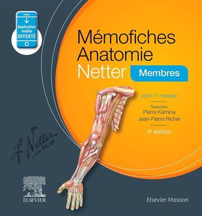 Mémofiches Anatomie Netter - Membres - 9782294759338 - 19,82 €