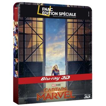 Captain MarvelCaptain Marvel Steelbook Edition Spéciale Fnac Blu-ray 3D