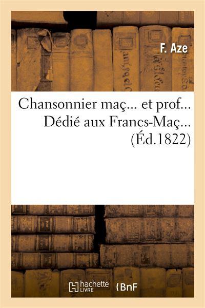 Chansonnier maç. et prof.