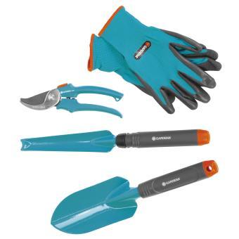 kit d 39 outils de jardinage gardena turquoise outillage de jardin main achat prix fnac. Black Bedroom Furniture Sets. Home Design Ideas
