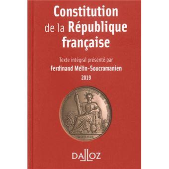 Constitution de la République française 2019