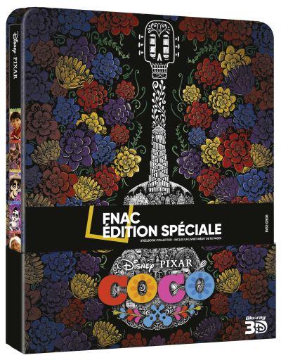 Coco [Pixar - 2017] Coco-Edition-Speciale-Fnac-Steelbook-Blu-ray-3D-2D