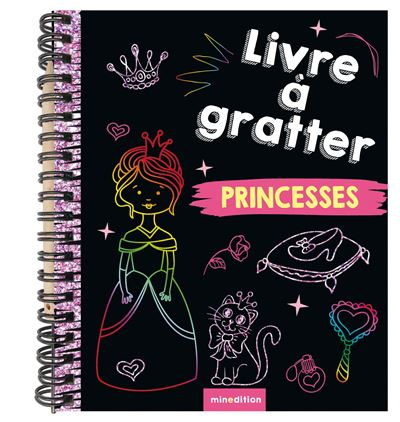 Livre à gratter Princesses (mini-livre)