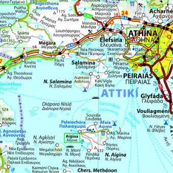 Carte Routiere Crete En Francais.Carte Grece Michelin Echelle 1 700 000 Broche Collectif Michelin