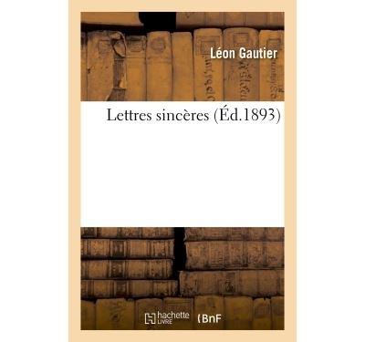 Lettres sincères
