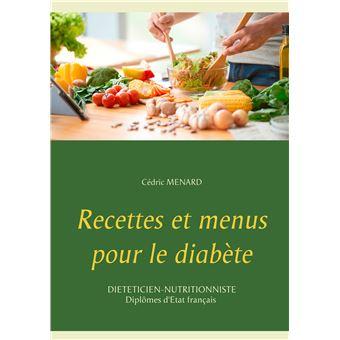 Recettes et menus pour le diabete