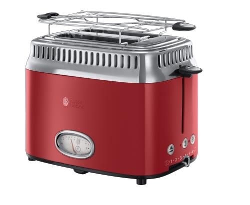 Grille-pain 2 fentes Russell Hobbs Retro Rouge