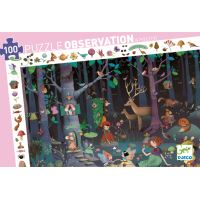 Puzzle 100 pièces La Forêt enchantée Djeco