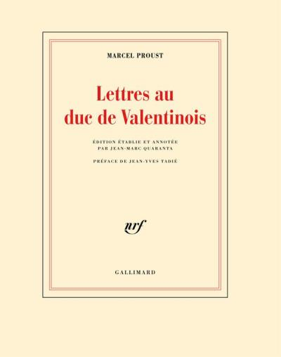 Lettres au duc de Valentinois - 9782072692918 - 10,99 €