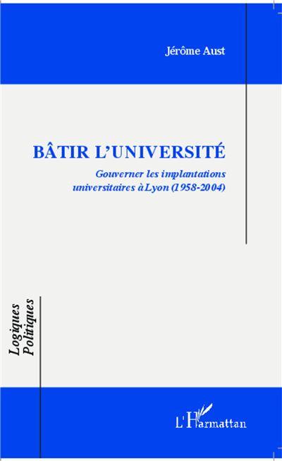 Bâtir l'université
