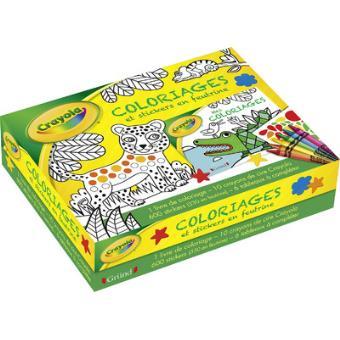 coffret crayola coloriages et stickers en feutrine