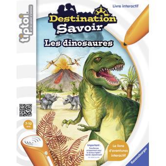 Livre interactif Destination Savoir Dinosaures Ravensburger pour Lecteur Tiptoi