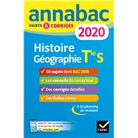 Annales Annabac 2020 Histoire-Géographie Tle S