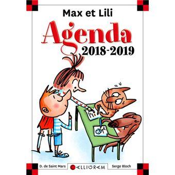 Max et LiliAgenda scolaire 2018-2019 Max et Lili